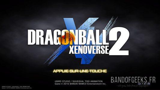 Dragon Ball Xenoverse 2 écran titre du jeu