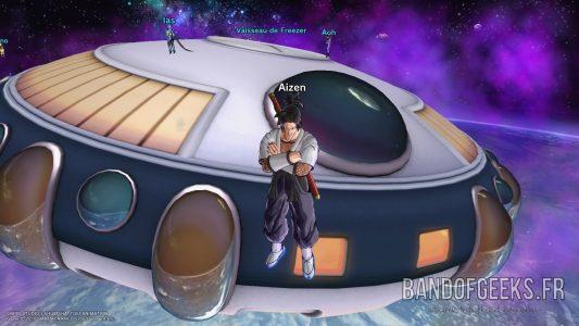 Dragon Ball Xenoverse 2 Aizen croise les bras devant le vaisseau de Freezer