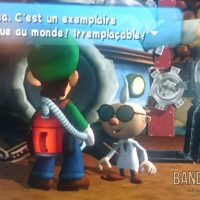 Luigi's Mansion Luigi discute avec le professeur K. Tastroff