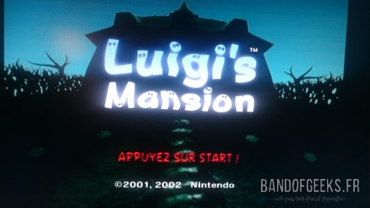Journal Nostalgie écran titre Luigi's Mansion