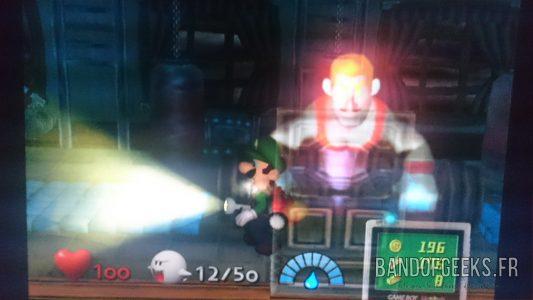 Journal Nostalgie Luigi's Mansion Luigi devant un fantôme culturiste