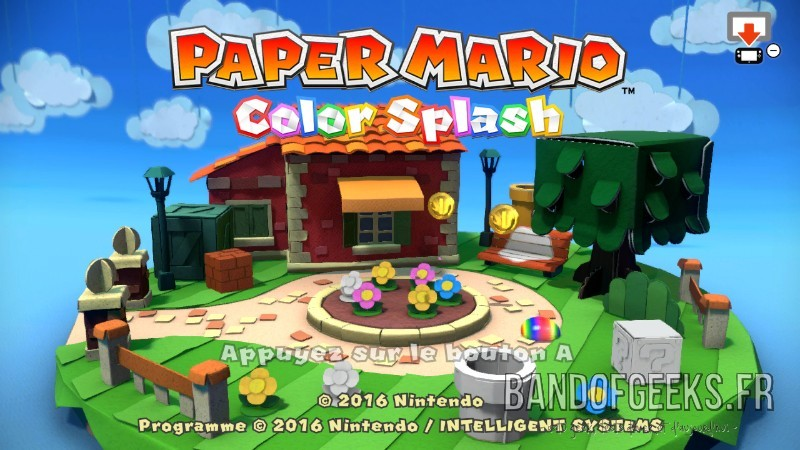 Paper Mario Color Splash écran titre