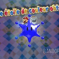 Paper Mario Color Splash Mario et Peinturion sont sur la grande étoile bleue