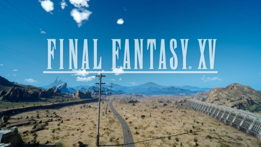 Final Fantasy XV logo ingame Panneau Paris in ruins 30 Day Video Game Challenge Band of Geeks