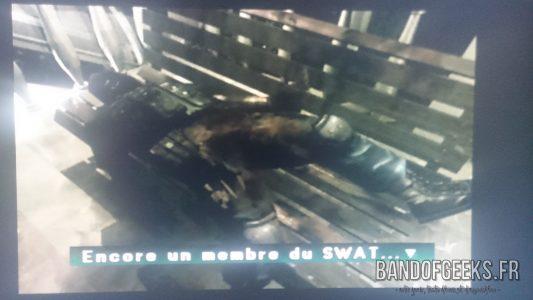 Journal Nostalgie Parasite Eve II un Swat est décédé sur un banc