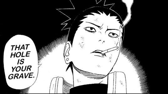 shikamaru Nara fume une cigarette