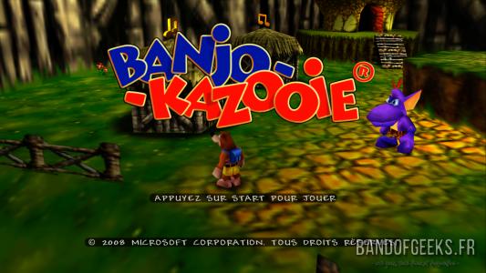 Banjo Kazooie écran titre Xbox One