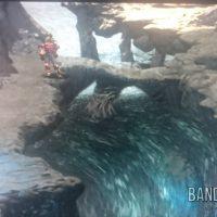 Legend of Dragoon cascade avec Dart et des rochers