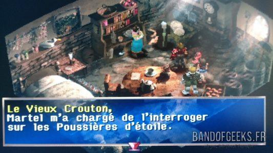 Legend of Dragoon Le Vieux crouton parle de Martel et des Poussières d'Etoile