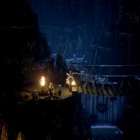 Octopath Traveler personnage dans une grotte