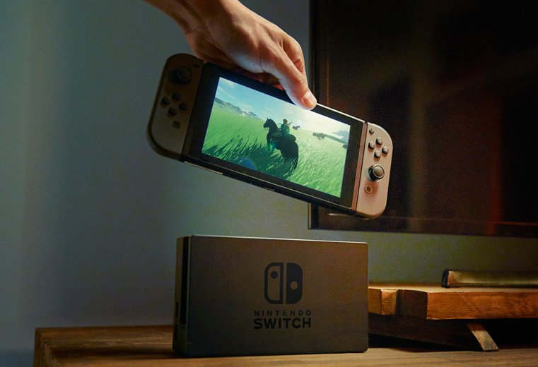 Nintendo Switch avec Zelda Breath of the wild