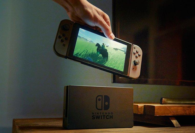 Nintendo Switch avec Zelda Breath of the wild