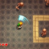 A Link between Worlds Link attaque des squelettes
