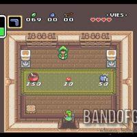 A Link to the Past Link dans une boutique proposant une potion rouge un coeur ou des bombes