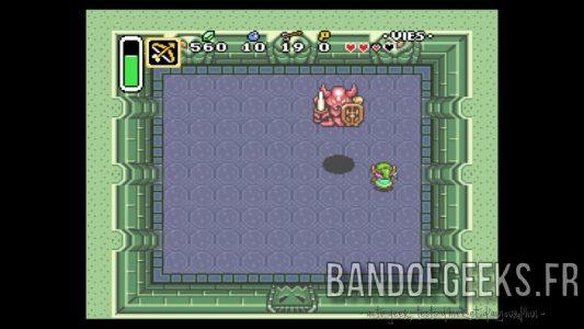 A Link to the Past le Boss du premier donjon saute sur Link