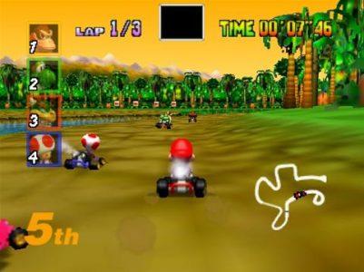 Mario Kart 64 course dans la jungle DK