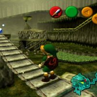 Ocarina of Time Link dans le village Kokiri