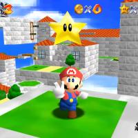 Super Mario 64 Mario a récupéré une étoile
