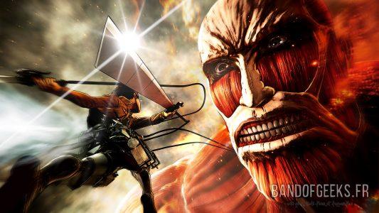 Attaque des Titans Eren attaque le Titan colossal