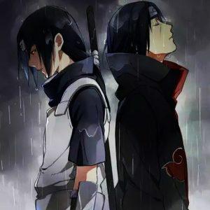 Naruto Itachi en Anbu dos à dos avec Itachi de l'Akatsuki