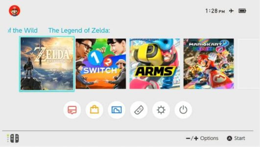 Switch menu principal