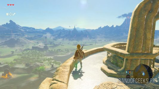 Breath of the Wild Link sur une tour