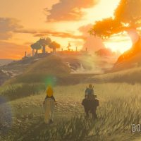 Breath of the Wild Zelda et Link à cheval