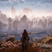 Aloy paysage rivière ruines buildings Horizon : Zero Dawn Band of Geeks