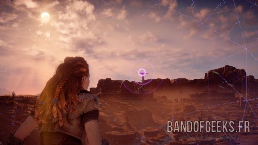 Aloy focus sinal Grand-cou Horizon : Zero Dawn Band of Geeks