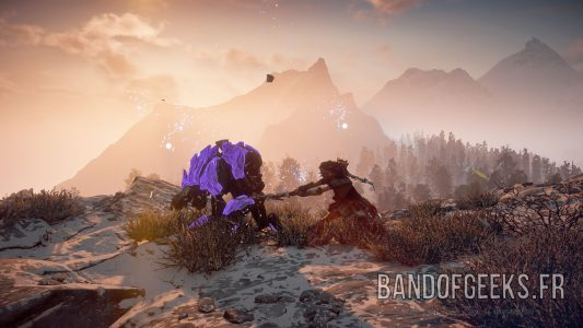 Aloy mise à mort charognarde Horizon : Zero Dawn Band of Geeks