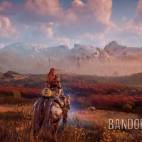 Aloy monture mecanique paysage Horizon : Zero Dawn Band of Geeks