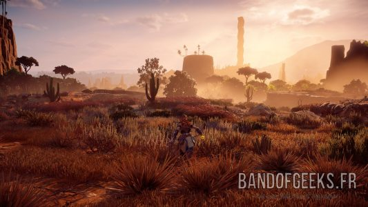 Aloy Paysage desert Horizon : Zero Dawn Band of Geeks