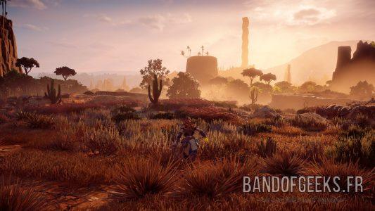 Aloy Paysage desert Horizon : Zero Dawn Band of Geeks