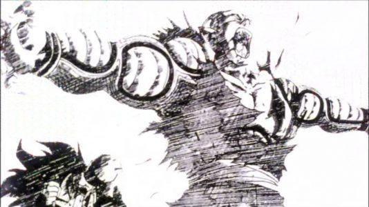 Dragon Ball Piccolo protège Gohan de Nappa