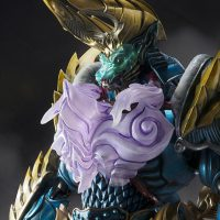 S.H.Figuarts Monster Hunter Zinogre Face close up gros plan visage Bandai Band of Geeks