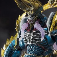 S.H.Figuarts Monster Hunter Zinogre Face unmasked close up gros plan visage sans masque Bandai Band of Geeks