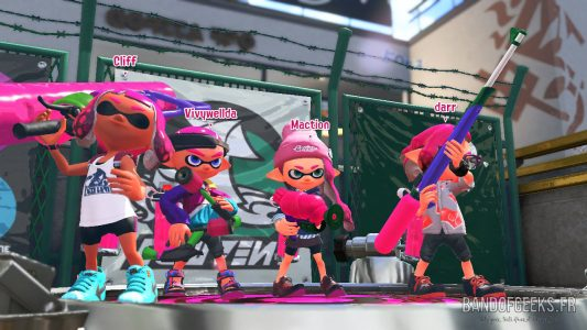 Splatoon 2 Global Testfire équipe