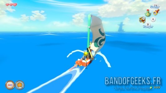 Wind Waker Link parcoure les mers