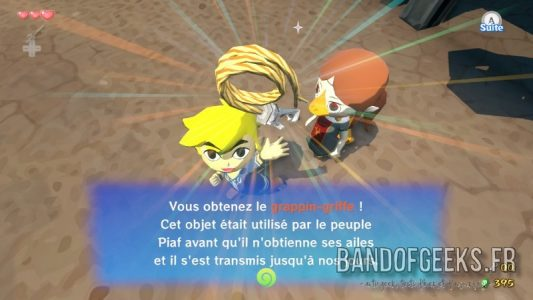 Wind Waker Link a trouvé le grappin-griffe
