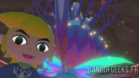 Wind Waker Link fait un selfie devant le Boss du temple des Bois défendus