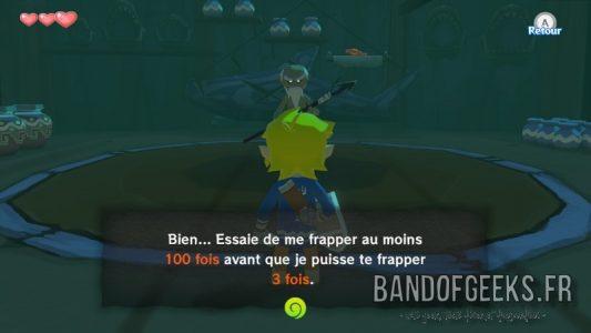 Wind Waker Orco dit à Link qu'il faut qu'il le touche plus de 100 fois