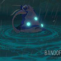 Wind Waker Link sur le Lion Rouge affronte un calamar géant