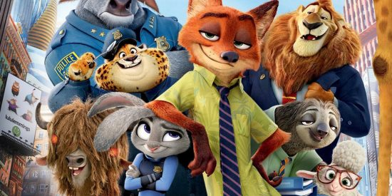 Zootopia les personnages principaux prennent la pose