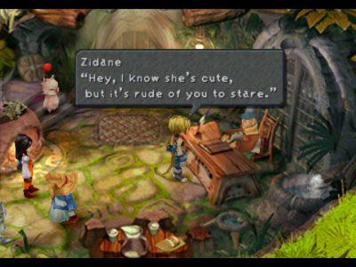 Final Fantasy IX Zidane Bibi et Dagga discutent