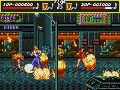 Streets of Rage Axel et Blaze subissent une pluie de roquettes