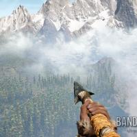 Far Cry Primal Takkar observe une montagne enneigée