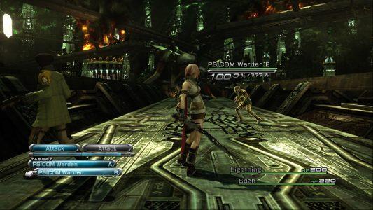 Final Fantasy XIII Lightning et Sazh affrontent des soldats