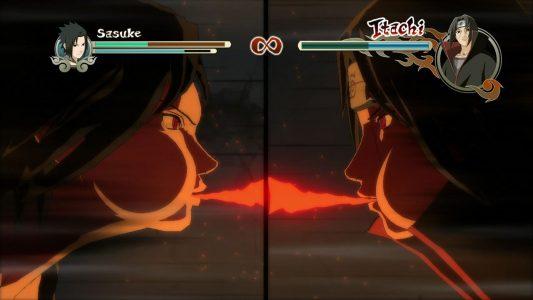 Naruto Shippuden Ultimate Ninja Storm 2 Sasuke et Itachi s'affrontent
