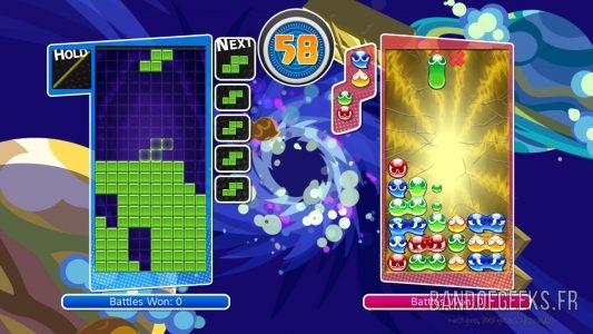 Puyo Puyo Tetris mode Big Bang Tetris contre Puyo Puyo