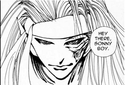 Yuyu Hakusho Raizen parle à Yusuke